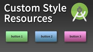android button style android development custom style resource in android studio