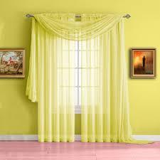 Yellow Window Curtains Warm Home Designs Yellow Window Scarf Valances Sheer Yellow