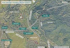 New England Road Map by Toowoomba Second Range Crossing Project Maps And Key Interchanges