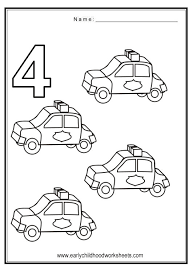 coloring numbers vehicles theme