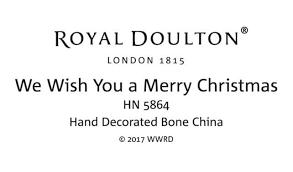 royal doulton we wish you a merry hn 5864 royal