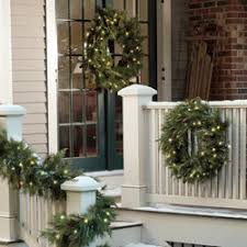 Pre Lit Christmas Window Decorations by Pre Lit Outdoor Christmas Decorations Shop Brookstone