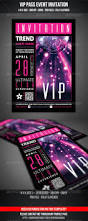 Invite Card Size Vip Club Event Invitation Print Templates Fonts And Typography