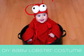 lobster costume the happy plum diy baby lobster costume