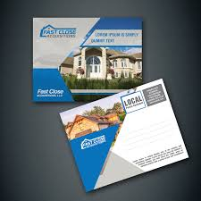 serious modern postcard design for fast acquisitions llc