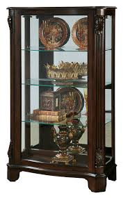 curio cabinet photo album collection oak corner curio cabinet