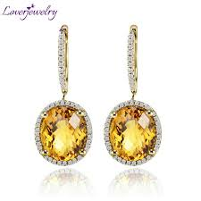citrine earrings compare prices on yellow gold citrine earrings online shopping
