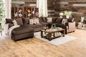 Fabric Sectional Sofa Wessington Sectional Sofa Sm6111 U Shaped In Chocolate Fabric