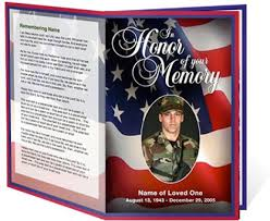 Templates For Funeral Program Free Funeral Program Templates Military Or Patriotic Funeral