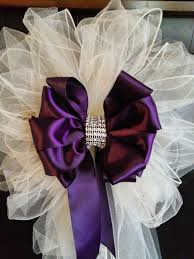 pew bows for wedding wedding pew bows any color satin and tulle bows with streamers and