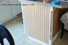 wainscoting kitchen island on the v side diy kitchen island update