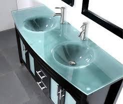Glass Top Vanities Bathrooms Glass Bath Vanity Top With Integrated Sink Sinks Gallery Bathroom