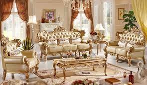 Leather Furniture Living Room Sets Classic Italian Style Luxury Leather Sofa Set Living Room Sofa