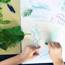 easy leaf rubbing craft for kids