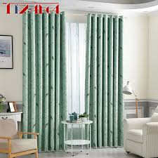 Teal Bird Curtains Rustic Flower Bird Blackout Coffee Curtains For Living Room Green