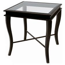 square glass end table dania metal end table yard gold finish square glass top dcg stores