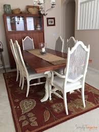 Finally Updated Antique Thomasville Dining Table And Chairs Chalk - Thomasville dining room chairs