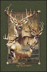 Camo Area Rug Deer Border Camouflage Area Rug