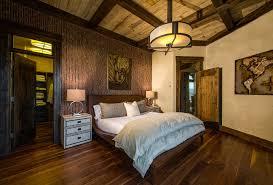 light wood floors trim bedroom rustic with sleigh bed