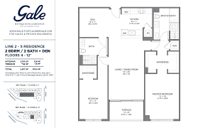 the gale lines 2 5 floor plan 2 bed 2 bath floors 4 12