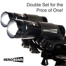 herobeam double bike lights set the ultimate lighting and