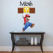Super Mario Bedroom Decor Mario Personalized Name Decal Super Mario Wall Decal Sticker
