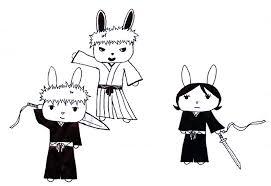 chappy sketch 14 ichigo hichigo and rukia by robinsenaisthebomb