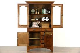 Oak Kitchen Pantry Cabinet Sold Victorian Eastlake 1895 Antique Oak Pantry Cabinet Kitchen