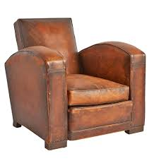 vintage chairs rejuvenation french bow arm leather club chair