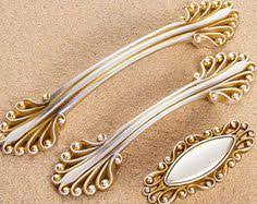 Shabby Chic Drawer Handles by Brassline 87mm Polished Brass Oblong Drawer Handle Cabinetry