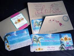 hawaiian themed wedding invitations memories of today