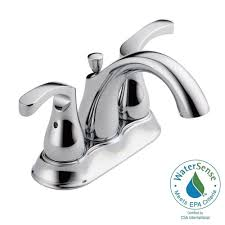 Centerset Faucet Definition delta denim 4 in centerset 2 handle bathroom faucet in chrome