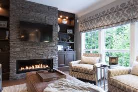 Houzz Fireplace Family Room Traditional With Builtin Shelves - Houzz family room