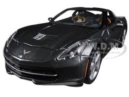 chevrolet corvette c7 stingray 2014 chevrolet corvette c7 stingray grey 1 24 diecast car model by