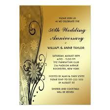 50th wedding anniversary invitations templates 50th anniversary