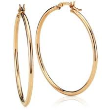 large gold hoop earrings blue nile large hoop earrings in 14k gold 1 5 8 polyvore