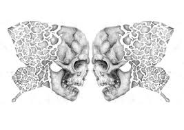 skull butterfly tattoo design by amysargeantdesigns on deviantart