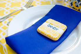 Blue And Yellow Home Decor by Cobalt Blue And Yellow Tablescape Archives Fleur De Lis Event