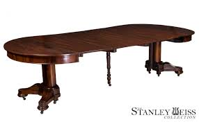 extension dining room table a classical highly figured rosewood pedestal extension dining room