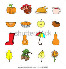 vector seamless pattern thanksgiving elements symbols stock vector