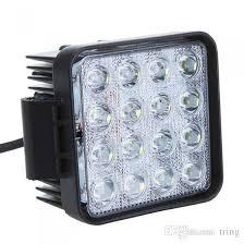 best construction work lights 4 5 48w 16 led working light square car work lights spot flood beam