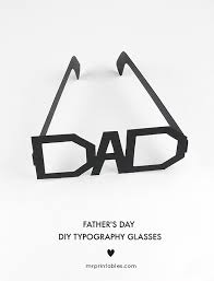 father u0027s day typography glasses mr printables