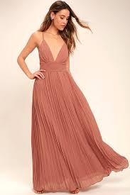 lulus depths of my love rusty rose maxi dress fully lined 100