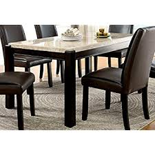 marble dining room set furniture of america minna contemporary genuine