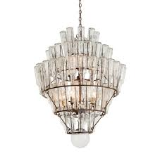 Antique Glass Chandelier Canton Rustic Iron Vintage Glass Bottle Chandelier Kathy Kuo Home