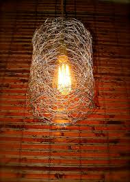 Wire Chandelier Diy Repurposed Chicken Wire Swag Light On Sale By Ohgloryvintage