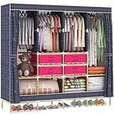 amazon com hhaini huge wooden portable closet 4 rods bedroom