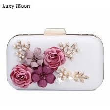 bridesmaid bag 2017 clutch bags banquet purse 3d flower evening bags