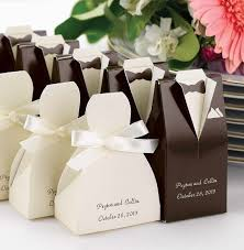 wedding favor boxes wholesale 33 awesome wedding favors for your guests brown tuxedo favors