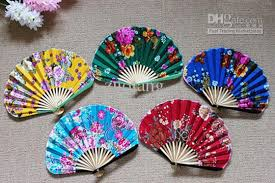 held fans 2017 pretty weddings held fans silk fabric folding